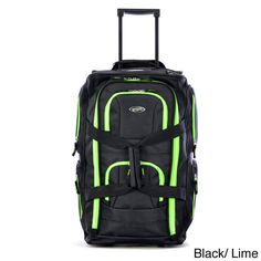 Single Piece Black Purple Small Wheeled Duffle Bag Carry On 8 Pocket Rolling Upright Telescoping Handle Softside Utility Type Polyester Material >>> Read more at the image link. Carry On Luggage, Luggage Sets, Travel Luggage, Travel Items, Travel Packing, Trolley Bags, Luggage Trolley, Duffle Bag Travel, Duffel Bags