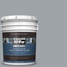 BEHR Premium Plus Ultra 5-gal. #N510-4 Supernova Satin Enamel Exterior Paint