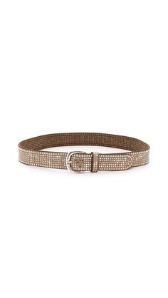 Mixed-finish studs accent this luxe leather belt that adds a shiny touch to your look. Wear it now, or buy it as a gift for someone you love.    B. Belt Studded Outline Belt
