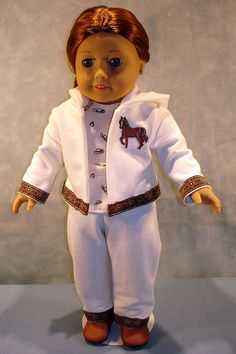 Western Horse Warm Up Suit made to fit 18 inch dolls by JaneEllen2 on Etsy