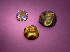 selection of decorated glass beads from Wiltshire of Iron Age date.