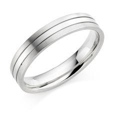 Our  #Platinum & #18ct white #gold 4.5mm Mara #wedding #ring  #weddingrings #whitegold #jewellery #jewellers #HattonGarden #London
