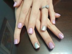 A thin acrylic overlay, call, for appointment new clients receive  $10 off.