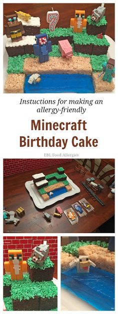 How to make a Minecraft Cake, vegan & soy free (gluten free option too)