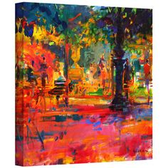 Peter Graham 'La Terrasse du Jardin' Gallery-wrapped Canvas | Overstock™ Shopping - Top Rated ArtWall Canvas