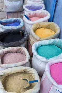 #Chefchaoeun, #Morocco. Paint tints in the medina.  | #Travel Post OatandSesame.com