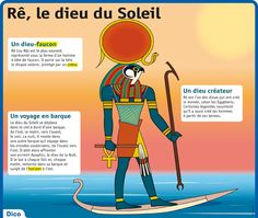 Fiche exposés : Rê, le dieu du Soleil Elementary Spanish, Learn French, Gods And Goddesses, French Language, School Projects, Ancient History, To My Daughter, Religion, Learning