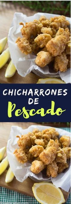 Chicharrones de pescado - Food and drink - Chicharrones, Seafood Recipes, Tapas, Fries, Cereal, Keto, Food And Drink, Easy Meals, Appetizers