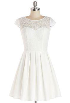 "Brides.com: 21 Stylish, Short Plus-Size Wedding Dresses. ""Elite the Way"" dress, $99, Chi Chi London available at Modcloth"