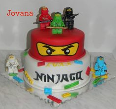 """""""Ninjago"""" cakes and muffins Ninjago cakes and muffins for our two friends :-)! Below the fondant the first cakes are – down the zoe, up the hazel cake … Karate Birthday, Nerf Birthday Party, Turtle Birthday Parties, 7th Birthday, Lego Ninjago Cake, Ninjago Party, Lego Cake, Bolo Lego, Cake Decorating Tutorials"""