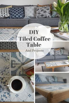 Use leftover tiles to create a DIY coffee table. This decorative detail creates a lovely bespoke piece of furniture.