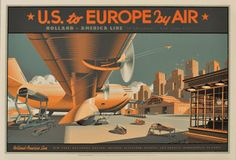 Laurent Durieux US TO EUROPE BY AIR Poster & Drawing Raffle