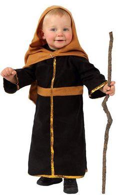 Disfraz de San José Navidad: Este disfraz de San José para niño incluye una capa y una túnica (bastón y zapatos no incluidos)La túnica es de color negro de tejido polar. Una banda cosida...