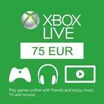 Xbox Live Gift Card Code 75 EURO (Европейские аккаунты)