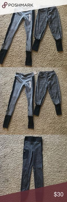 Athletic leggings set (4 pairs) Grey Capri -kyodon xs. Longer grey legging - forever 21 xs. Grey and black legging - h&m xs. Black legging - hm xs Pants Leggings
