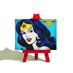 Wonder Woman Classic comic Miniature by TheTeenyTinyCanvasCo, £10.00