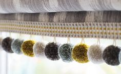Innovative Curtains and Blinds Roman Blinds, Curtains With Blinds, Blinds Inspiration, Skylight Blinds, Beautiful Blinds, Romo Fabrics, Window Coverings, Window Treatments, Passementerie