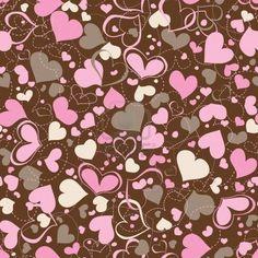 Hearts seamless pattern Stock Photo