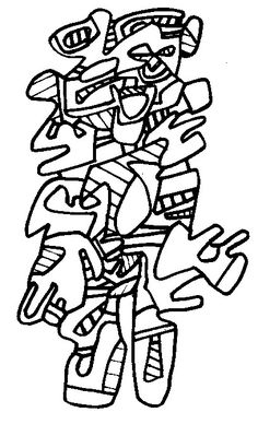 Jean Dubuffet : Personnage