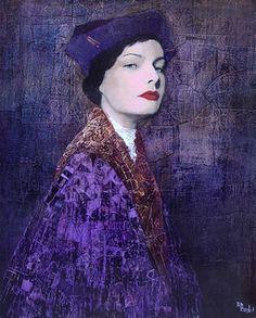 Richard Burlet / To Klimt Figure Painting, Painting & Drawing, Richard Burlet, Art Bleu, L'art Du Portrait, Guache, French Artists, Figurative Art, Female Art