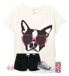 """if you have a dog, comment there name"" by texasgirlfashion ❤ liked on Polyvore featuring Frame Denim, Converse and Kate Spade"