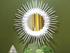 mandala feita de colher de plático