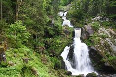 La cascada de Triberg en la Selva Negra, Alemania