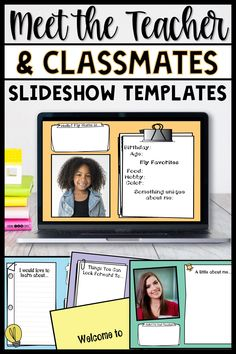 Beginning Of School, New School Year, Middle School, Meet The Teacher Template, Blended Learning, Learning Resources, Teaching Ideas, Ms Gs, Google Classroom