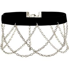 New Look Black Velvet Chain Drop Choker ($5.27) ❤ liked on Polyvore featuring jewelry, necklaces, black, chain choker, choker necklace, velvet choker necklace, chains jewelry and velvet choker