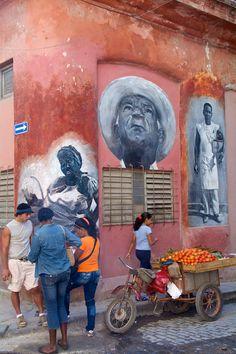 Beautifully painted portraits at > Mobile Fruit Stand - Street Art - Havana, Cuba Cienfuegos, Belize, Going To Cuba, Expo Milano 2015, Cuban Art, Afro Cuban, Cuba Travel, Beach Travel, Mexico Travel