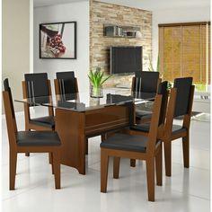mesa de jantar de vidro preto 4