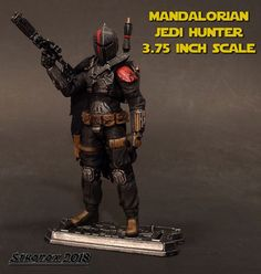 Mandalorian Jedi Hunter custom action figure from the Star Wars series, created by Stronox. Star Wars Action Figures, Custom Action Figures, Star Wars Jedi, Star Wars Art, Mandalorian Ships, Jedi Armor, Star Wars Commando, Star Wars Species, Star Wars Merchandise