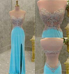 Backless Prom Dress, Tiffany Blue P