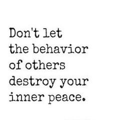 Destroy your inner peace