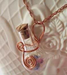"""""""Love the wire work-simple & elegant. Will be doing this with 100% copper wire onto spell bottle pendant gifts for my Sisters this Candlemas! Lovely Blessings to this Artist!"""""""