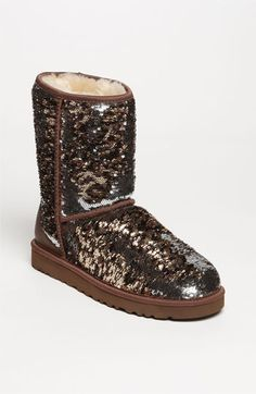 I LOVE THESE ❤️❤️❤️❤️ UGG® Australia 'Classic Short Sparkle' Boot (Women) available at #Nordstrom