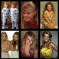 """Miss Full House"" -- Ashley and Mary Kate Olson, Jodie Sweetin, and Candace Cameron -- Yesterday and Today Rupaul, Full House Cast, Thats 70 Show, House Funny, Celebrities Then And Now, Funny Celebrities, Fuller House, Old Shows, Hollywood"