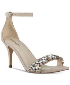 Nine West Innocent Embellished Evening Sandals | macys.com