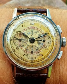 """omegaforums: """"Stunning Vintage OMEGA Calibre 27 CHRO Chronograph In Stainless Steel """""""