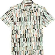 e804e851 Tori Richard Board Room Cotton Lawn Camp Shirt - Green
