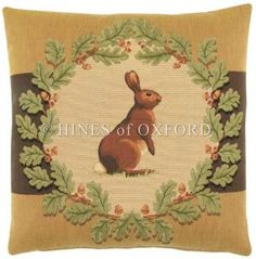 Hare & Oakleaves - Country - Tapestry Cushions