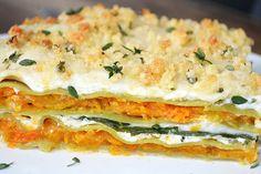 Butternut Squash and Spinach Lasagna {Vegan}