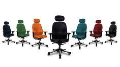 Silla ergonómica para oficina Dolphin. Colores disponibles. haraiberia.com