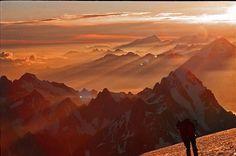 Mont Blanc morning panorama by diamir8000, via Flickr