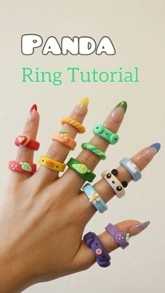 Fimo Ring, Polymer Clay Ring, Fimo Clay, Diy Clay Rings, Diy Jewelry Rings, Clay Art Projects, Clay Crafts, Ring Tutorial, Cute Clay