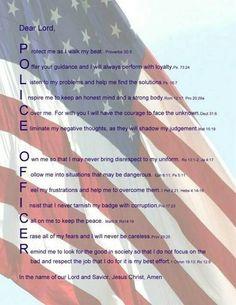 Police officer prayer.