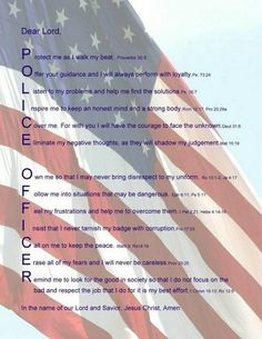 Police officer prayer.
