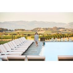 The stunning adult-only Hilltop Pool has sweeping views of the Carneros countryside for an idyllic Napa Valley experience