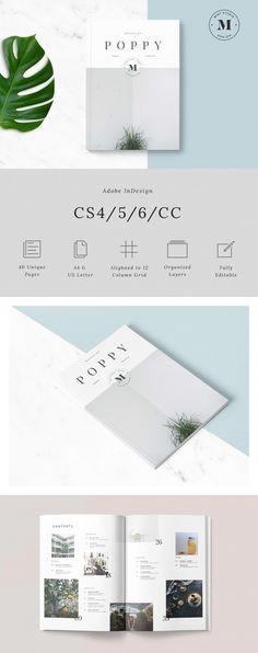 Poppy Magazine by Mint Studio on @creativemarket