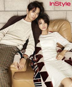 Lee Jin Wook & Yoo In Young Are A Modern Couple For InStyle Korea's September 2014 Issue